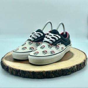 Vans Womens Santa Skulls Authentic Sized 7